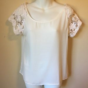 Beautiful White Top with Lace